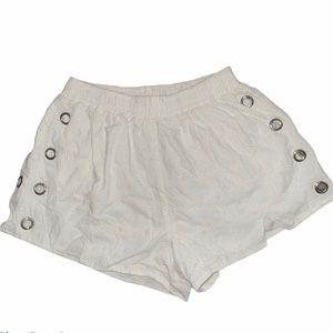 LF MILLAU white eyelet grommet shorts